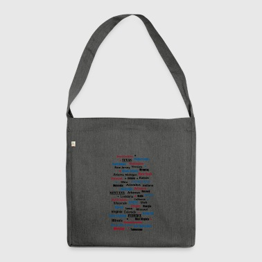 United States of America United States of America states - Shoulder Bag made from recycled material