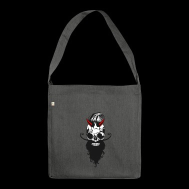 head of death crane devil horn lucifer bearded barb - Shoulder Bag made from recycled material