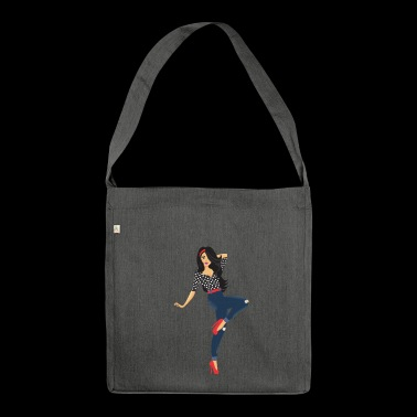 Pinup girl - Shoulder Bag made from recycled material