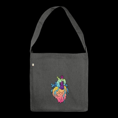 Grime Heart - Shoulder Bag made from recycled material