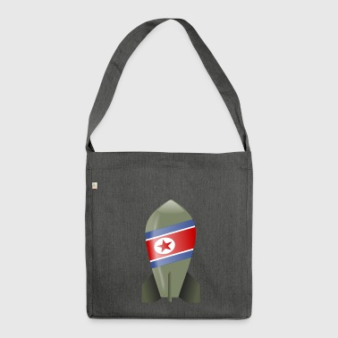 North Korea bomb - Shoulder Bag made from recycled material