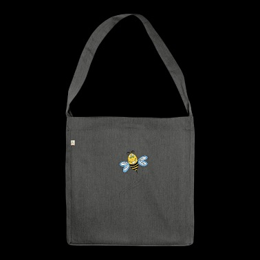 Bee in flight - Shoulder Bag made from recycled material