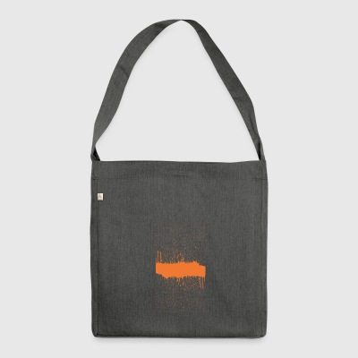 orange brush sketch - Shoulder Bag made from recycled material