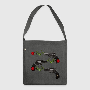 SHOOTING RED ROSES PISTOL CARTOON SHOOTING SHOT - Shoulder Bag made from recycled material