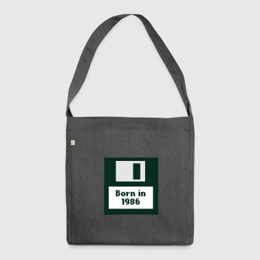 Born in 1986 floppy disk - Shoulder Bag made from recycled material