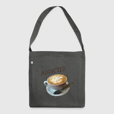 coffee addiction - Shoulder Bag made from recycled material