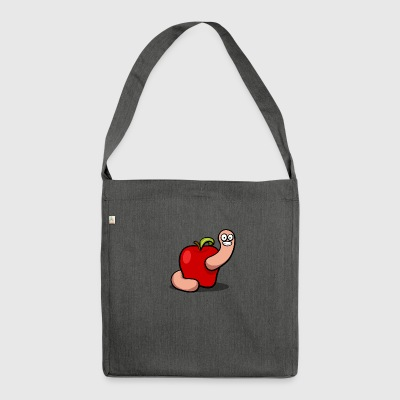 Worm Apple - Shoulder Bag made from recycled material