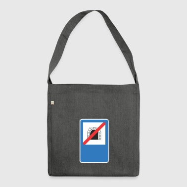 Road sign no train hole - Shoulder Bag made from recycled material