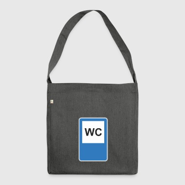 Road sign WC - Shoulder Bag made from recycled material