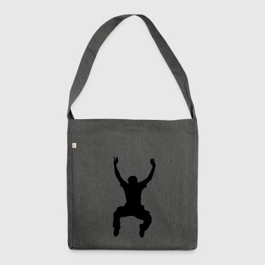 high jump jumping jump jumping ballerina3 - Shoulder Bag made from recycled material