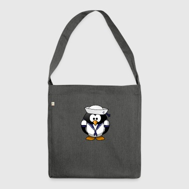 Pinguin Matrose - Schultertasche aus Recycling-Material