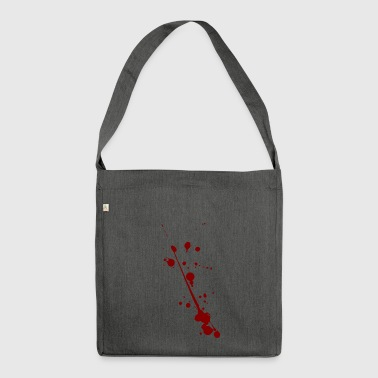 Blood splatter - Shoulder Bag made from recycled material