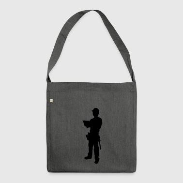 construction worker - Shoulder Bag made from recycled material