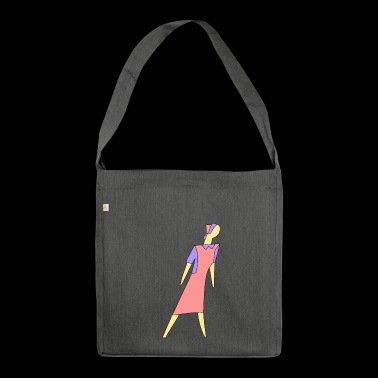 cleaning cleaning cleaning woman broom wischmop56 - Shoulder Bag made from recycled material
