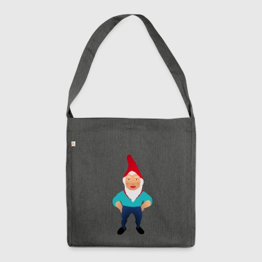 garden gnome - Shoulder Bag made from recycled material