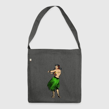 Hula dance - Shoulder Bag made from recycled material