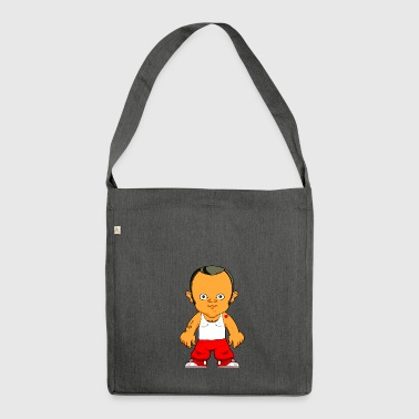 Cartoon character small gangster - Shoulder Bag made from recycled material