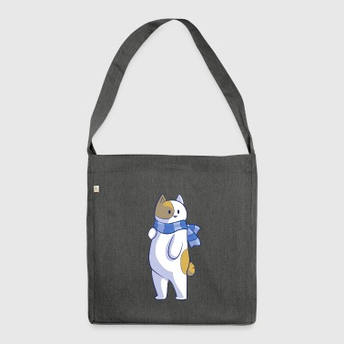 Standing Cat - Shoulder Bag made from recycled material