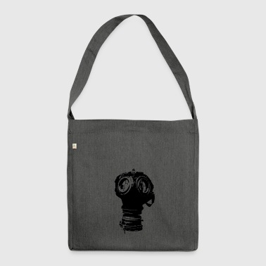 Gas-mask - Shoulder Bag made from recycled material