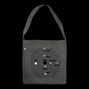 solar system - Shoulder Bag made from recycled material