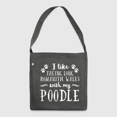 Romantic Poodle - Shoulder Bag made from recycled material