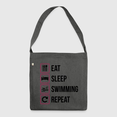 Eat Sleep Swimming Repeat - Schultertasche aus Recycling-Material