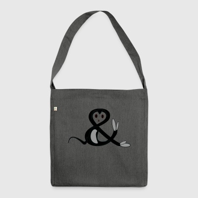 Ampersand - Schultertasche aus Recycling-Material