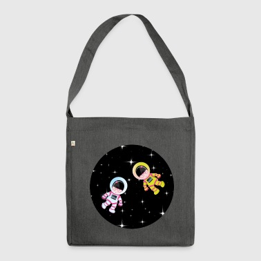 kokeshis space - Shoulder Bag made from recycled material