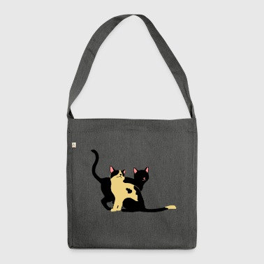 2 cats - Shoulder Bag made from recycled material