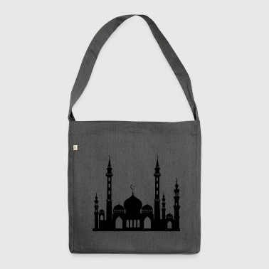 Mosque / Mosque in Arabia Crescent & Star - Shoulder Bag made from recycled material