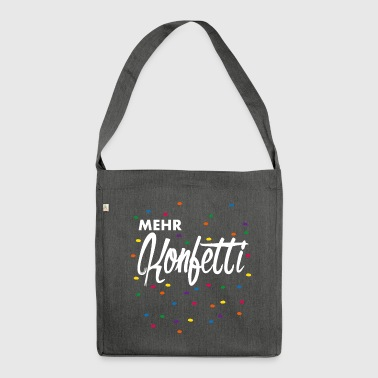 More confetti - Shoulder Bag made from recycled material