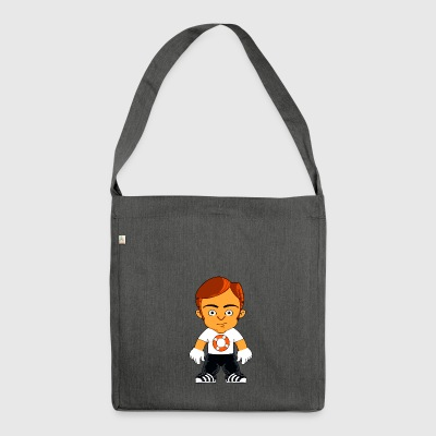 Little gangster comic figure - Shoulder Bag made from recycled material