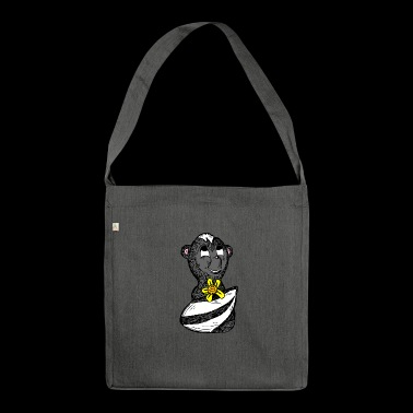 skunk skunk baby2 - Shoulder Bag made from recycled material