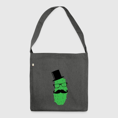 Mr. Cucumber Pickle Troop Sir Mister Dill with it 1c - Shoulder Bag made from recycled material