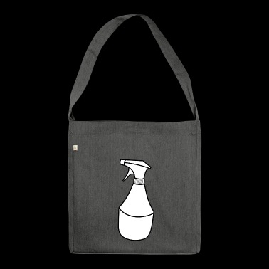 cleaning cleaning cleaning woman broom wischmop73 - Shoulder Bag made from recycled material