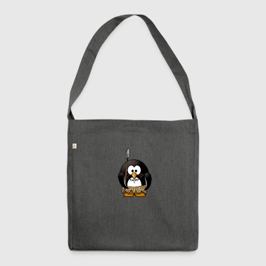 Native penguin in the stone age - Shoulder Bag made from recycled material