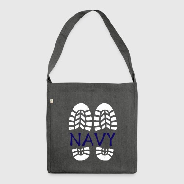 Navy *BEST SELLER* - Shoulder Bag made from recycled material