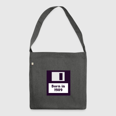 Born in 1989 floppy disk - Shoulder Bag made from recycled material