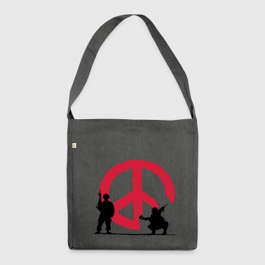 peace not war - Shoulder Bag made from recycled material