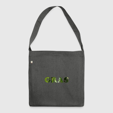 Grass as a word - Shoulder Bag made from recycled material