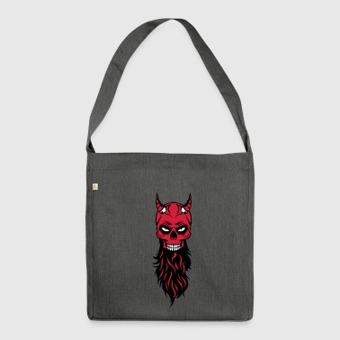 dead head hipster devil bearded beard fantasy luc - Shoulder Bag made from recycled material