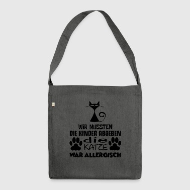 ++ CATS SCENE ++ | The cat was allergic | - Shoulder Bag made from recycled material