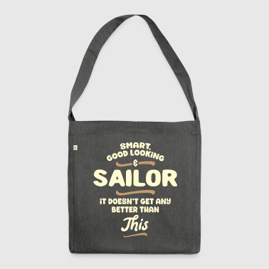 Smart, good looking and SAILOR ... - Shoulder Bag made from recycled material