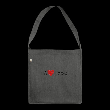 Alaaf you - Schultertasche aus Recycling-Material