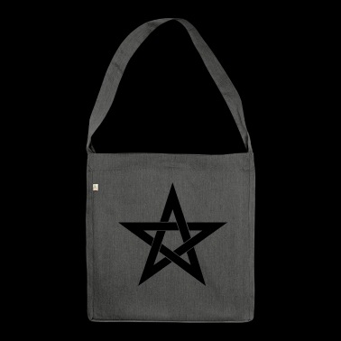 Pentagram, pentacle, magic, symbol, witchcraft - Shoulder Bag made from recycled material