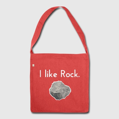I like rock - Shoulder Bag made from recycled material