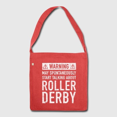 Tweet Roller Derby design - Sac bandoulière 100 % recyclé