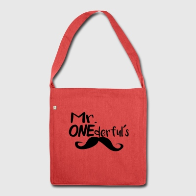 Mr ONEderfuls - Schultertasche aus Recycling-Material