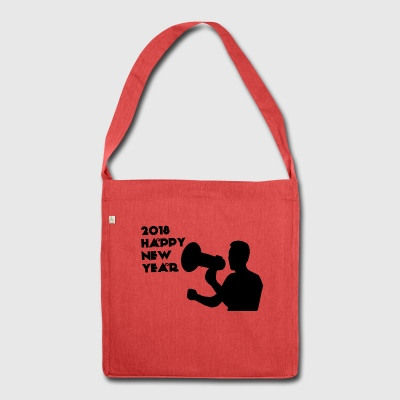 Happy new Year - Schultertasche aus Recycling-Material
