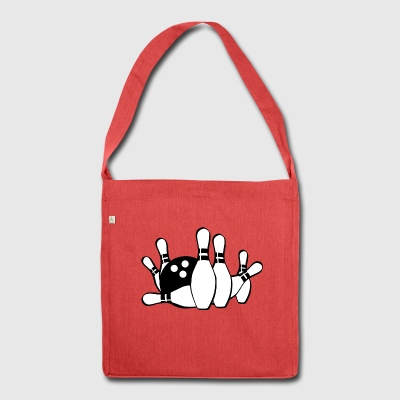 Bowling - Schultertasche aus Recycling-Material